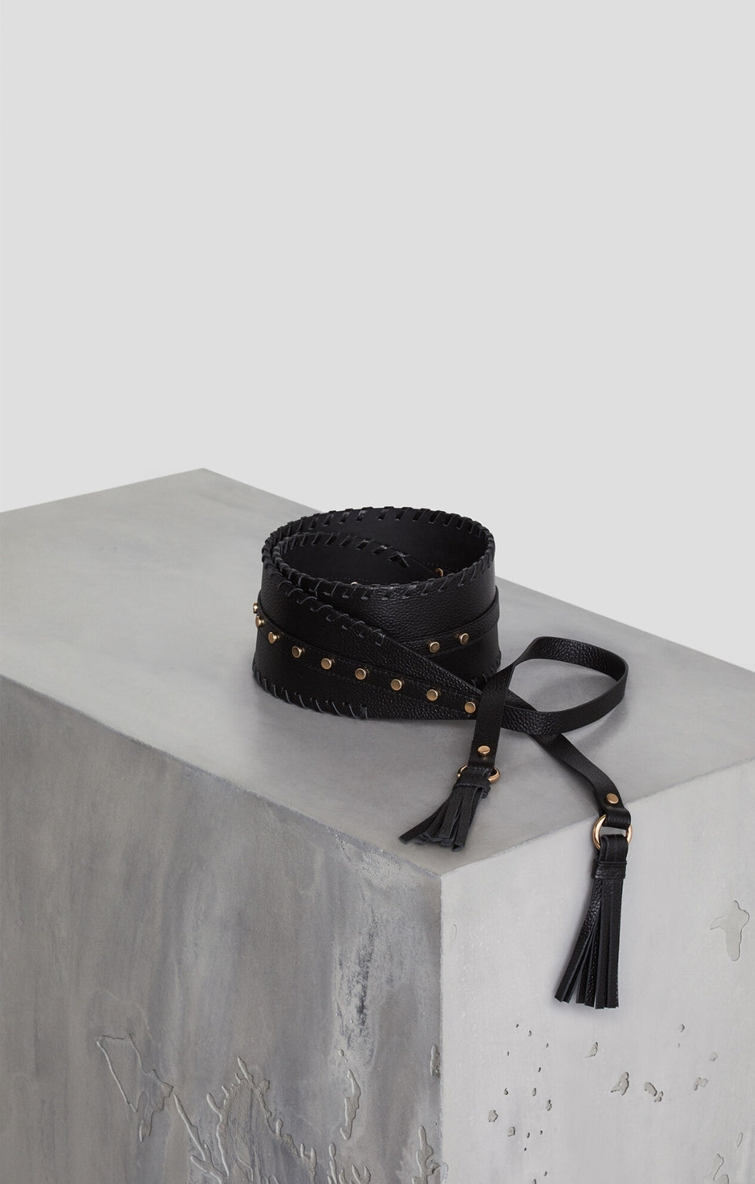 Faux Leather Tassel Belt