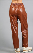 Load image into Gallery viewer, Camel Vinyl Pants