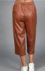 Wide Leg Capri Pants