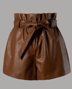 Heaven Vegan Leather Shorts