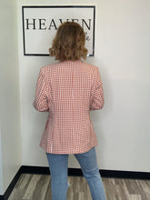 Load image into Gallery viewer, Checkered Red Blazer
