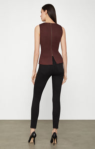 Tori faux leather peplum top