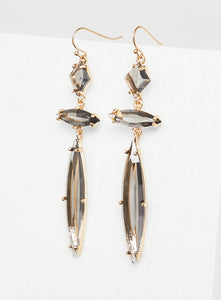 Triple Stone Drop Earrings
