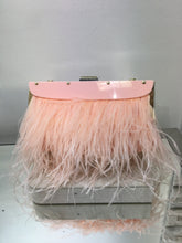 Load image into Gallery viewer, Catarina Feather-Trimmed Clutch BCBG