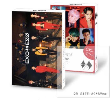 EXO 2R DOUBLE-SIDED 30 PC LOMO CARD
