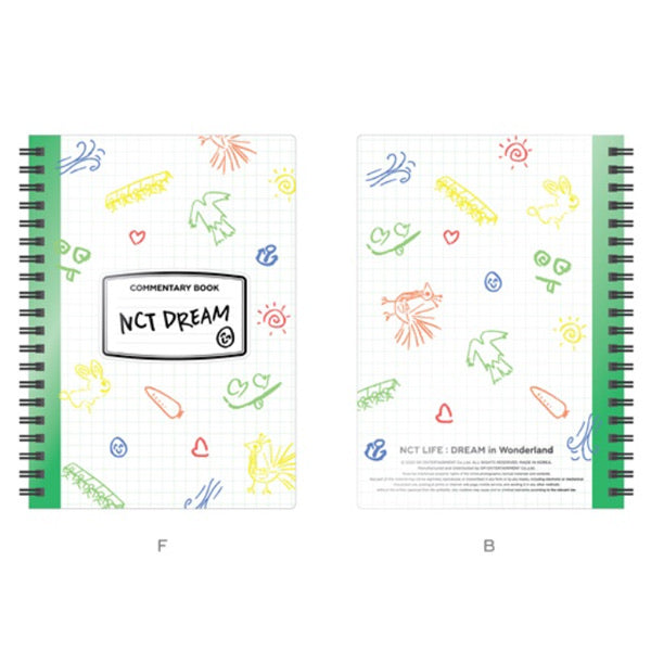 NCT DREAM - NCT LIFE : DREAM IN WONDERLAND COMMENTARY BOOK + LUGGAGE TAG SET
