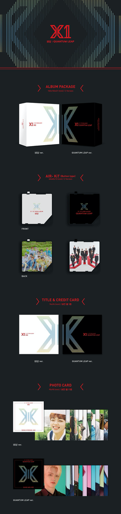X1 1ST MINI  KIHNO ALBUM - 비상 : QUANTUM LEAP KIHNO KIT