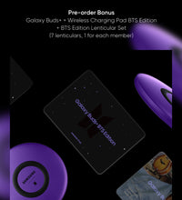 Load image into Gallery viewer, BTS SAMSUNG GALAXY BUDS BTS EDITION + LENTICULAR PHOTO CARDS