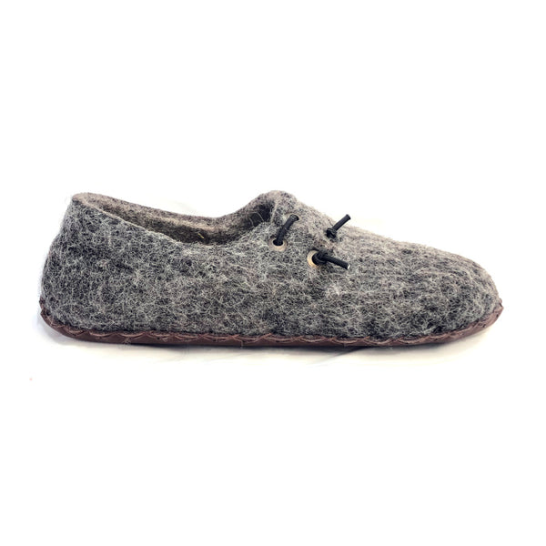 Men's Wool Felt Slippers with High Backs