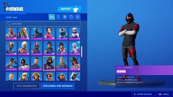 Fortnite Premium Account - Schwarzer Ritter + Galaxy + Wonder +100 Skins uvm. [Unikat]
