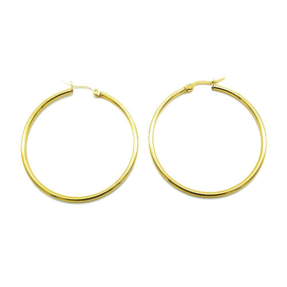 Load image into Gallery viewer, 3 Sets of Mavi Hoop Earrings with Grey, Gold Plated and Rose Gold Plated Design