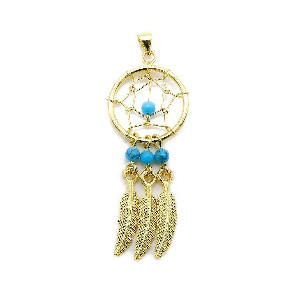 Gold Plated Dreamcatcher Necklace