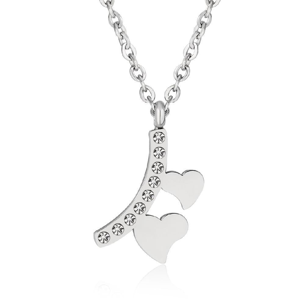 2 Heart Pendant Necklace