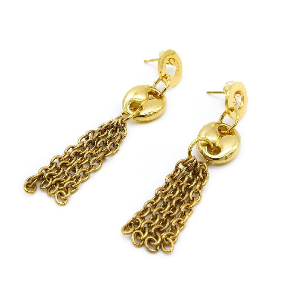 Load image into Gallery viewer, Gold Plated Drop Earrings
