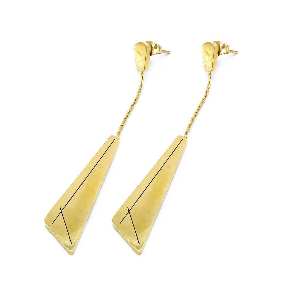 Drop Bar Angle Design Earrings