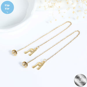 Load image into Gallery viewer, Korean-Style Musical Note Drop Earrings