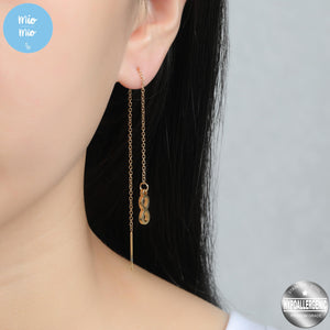 Korean-Style Infinity Drop Earrings