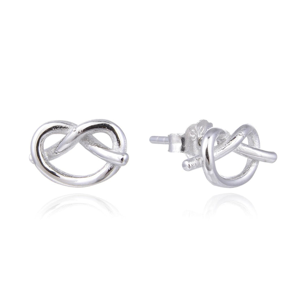 Heart Knot Stud Earrings