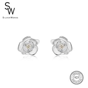 Disney® Belle Rose Stud Earrings