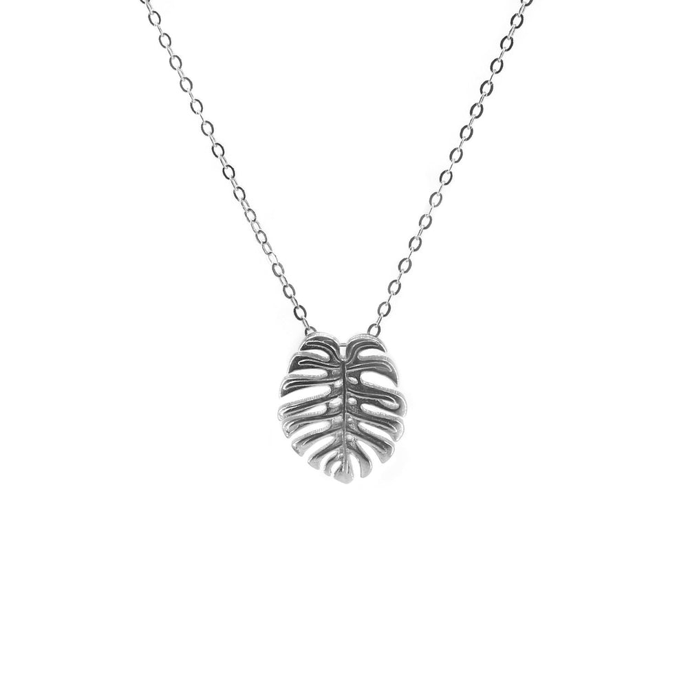 Load image into Gallery viewer, Plantita&Plantito Collection Monstera Necklace