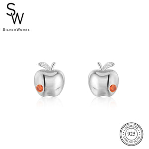 Load image into Gallery viewer, Disney® Snow White Poison Apple Stud Earrings
