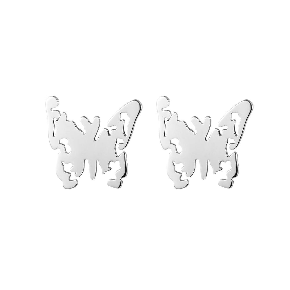 3 Set of Stud Earrings  Butterfly, Fox and Spider