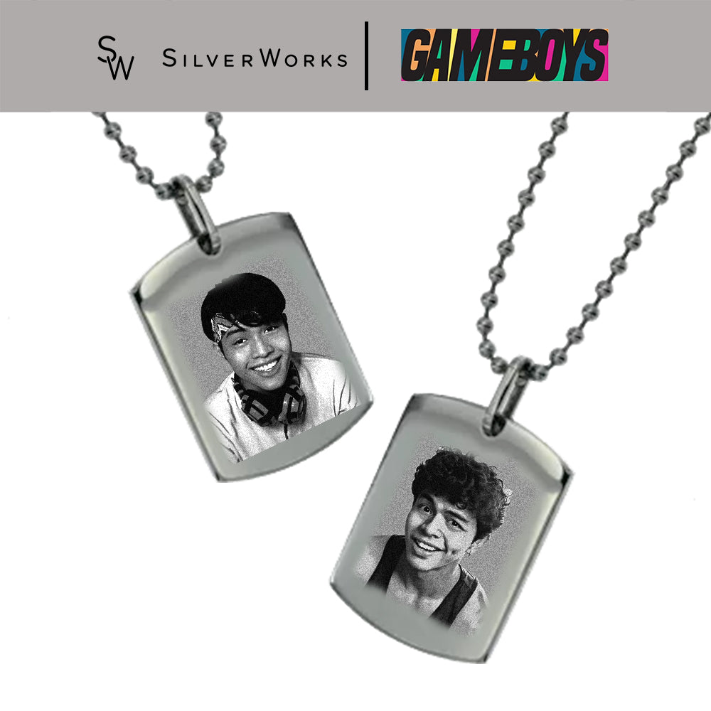 Gameboys Collection Engraved Dogtag Necklace of Cai or Gav