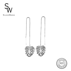 Plantito&Plantita Monstera Threaded Earrings