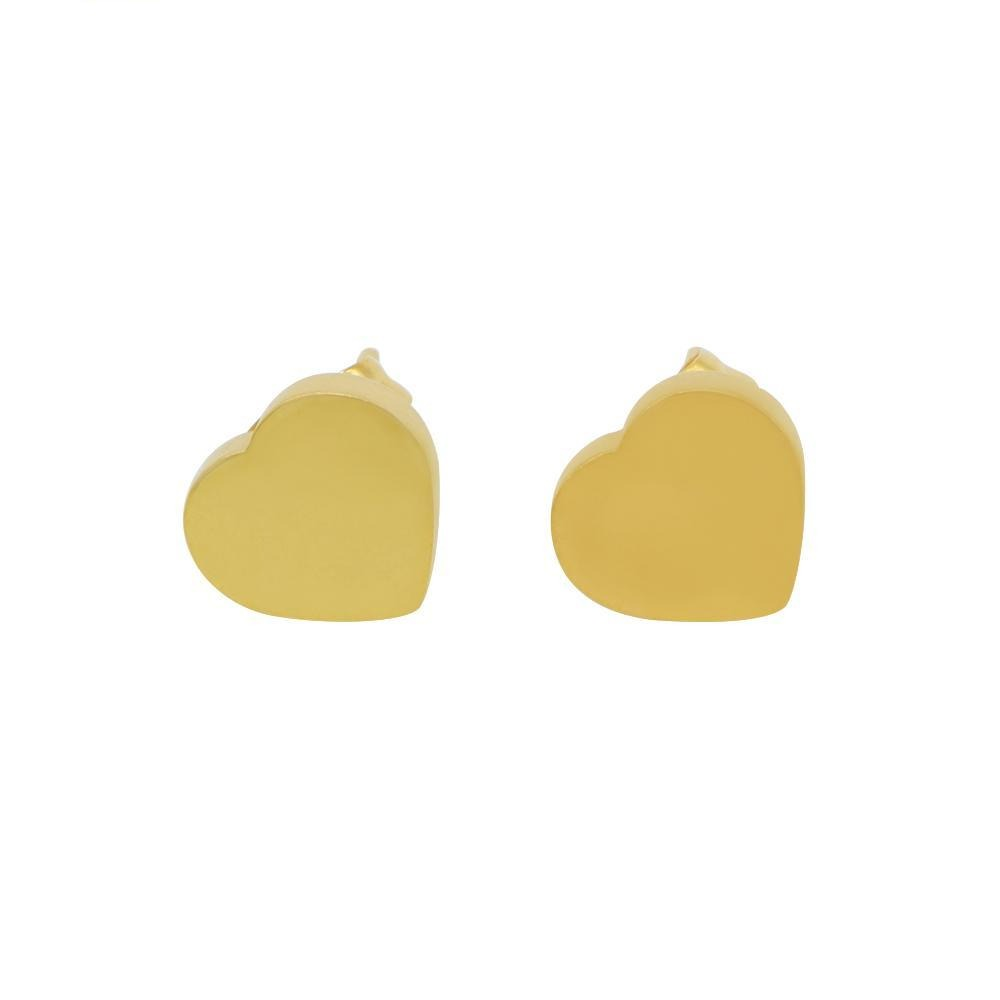 Load image into Gallery viewer, Sami Polished Heart Stud Earrings