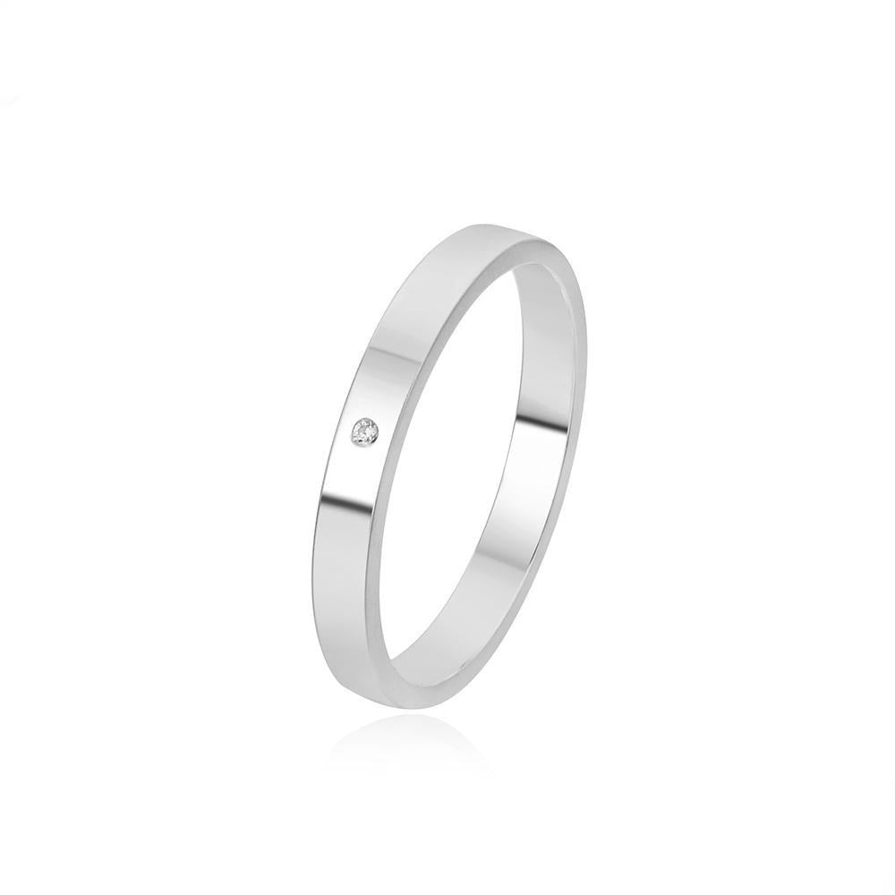 Load image into Gallery viewer, Thin Sandblasted Ring with Zirconia Ring