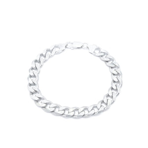 Countess Silver Bracelet with Curb Chain
