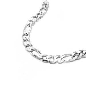 Load image into Gallery viewer, Cosimia Silver Bracelet with Figaro Chain