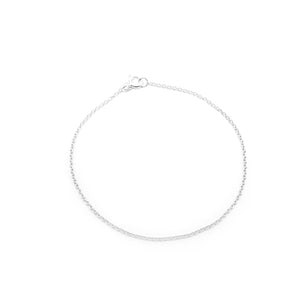 Connelly Silver Bracelet with Cable Chain