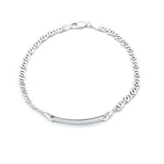 Carenza Silver ID Bar Bracelet