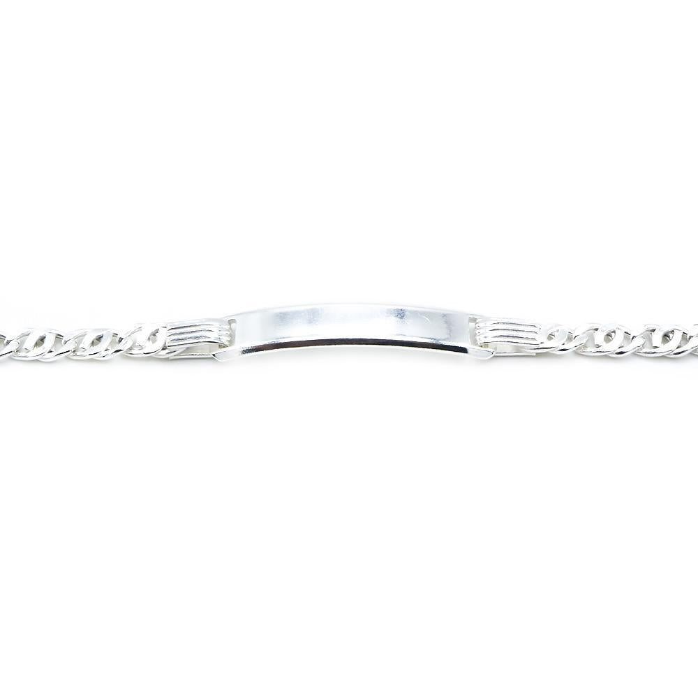 Carenza Silver ID Bar Bracelet 2