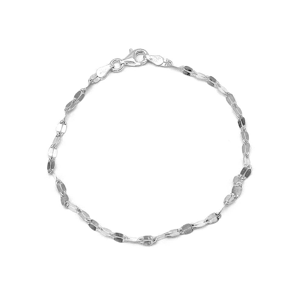 Load image into Gallery viewer, Chiaki Silver Bracelet with Moka Link Chain