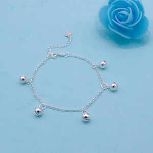 Load image into Gallery viewer, Camilla Silver Bracelet with Ball Charms 2