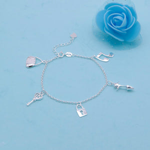 Clara Silver Bracelet with Charms 2