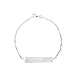 Chase Silver ID Bar Bracelet