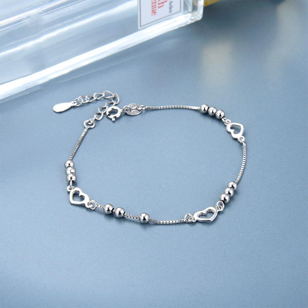 Chi Silver Heart and Ball Charm Bracelet with Box Chain 3