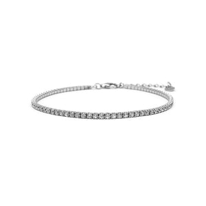 Load image into Gallery viewer, Ceanna Tennis Style Silver Bracelet with Zirconia Stones