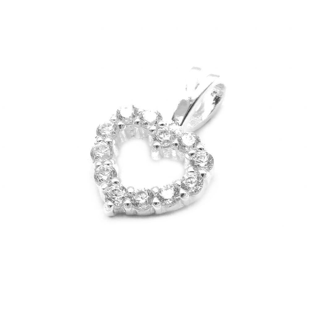 Aden Small Heart with Cubic Zirconia Pendant