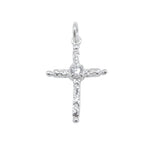 Abril Apostles Cross Silver Charm with Cubic Zirconia