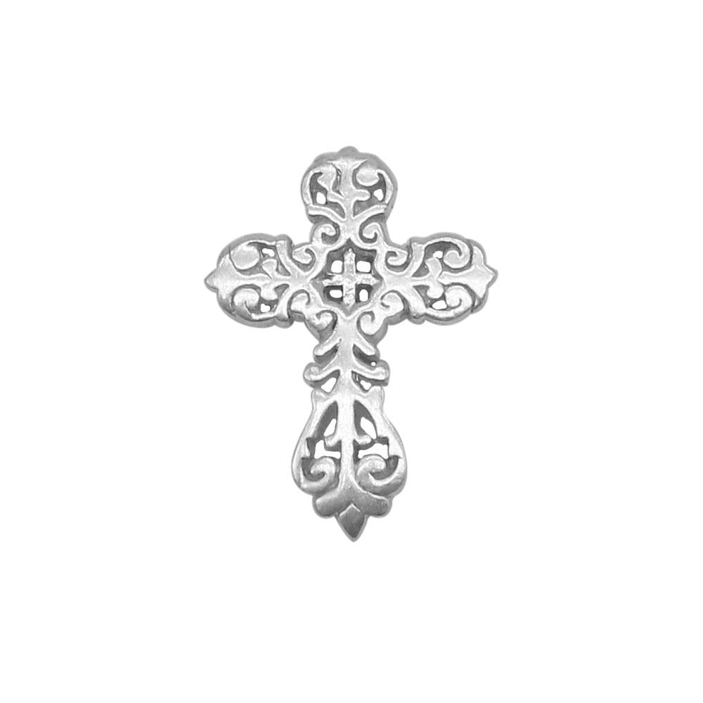 Aurelia Cross Peligree Oxidized Silver Pendant