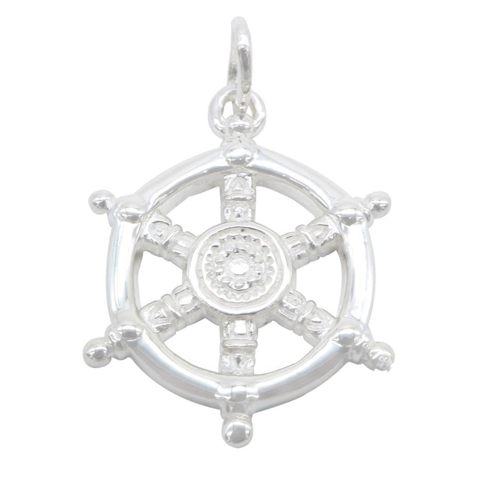 Aillish Silver Captain Wheel Charm