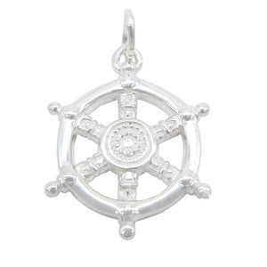 Load image into Gallery viewer, Aillish Silver Captain Wheel Charm