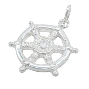 Load image into Gallery viewer, Aillish Silver Captain Wheel Charm 2