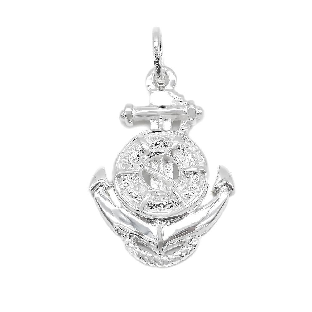 Aimee Silver Floater on Anchor Charm