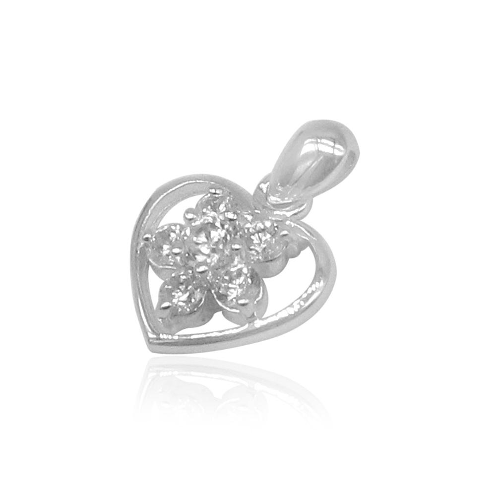 Aileen Heart with Rositas Inside Silver Pendant