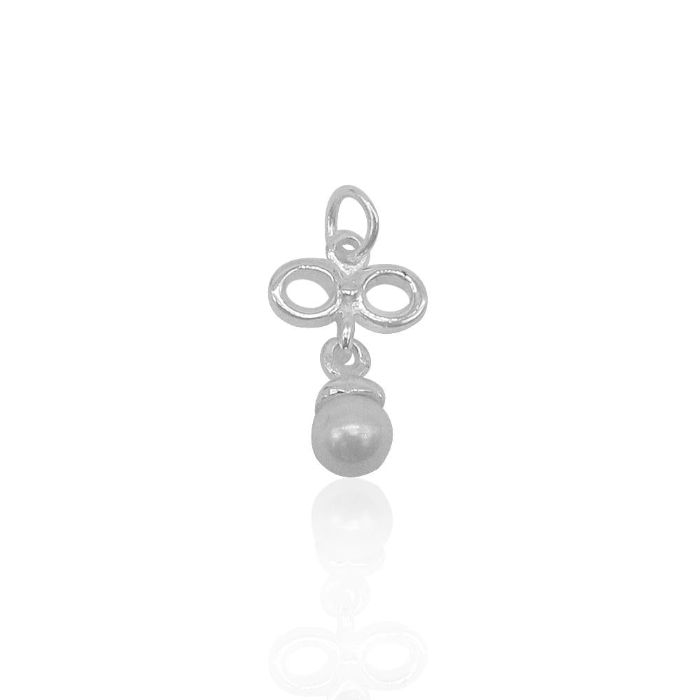 Load image into Gallery viewer, Aniya Bow with Pearl Silver Pendant